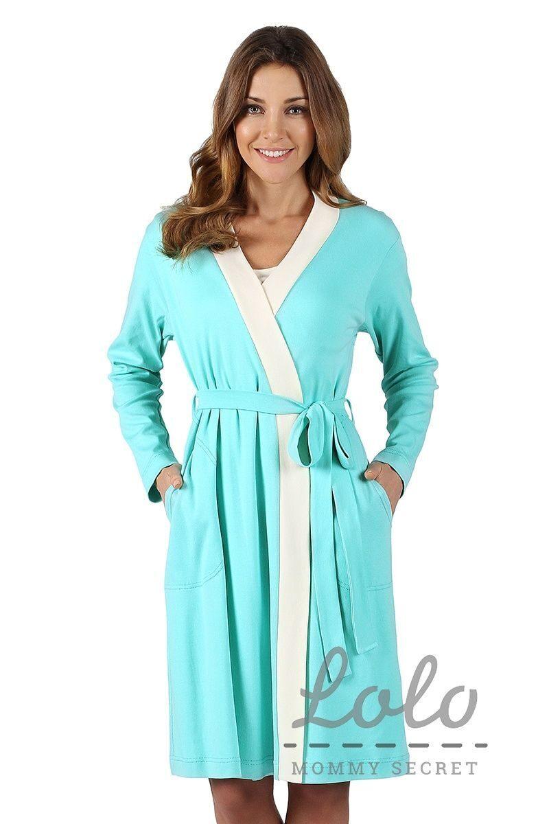 Ночная сорочка и халат для беременных и кормящих 1